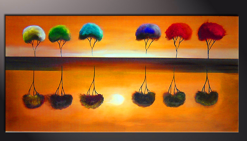 Картина Композиция с деревьями №3, смешанная техника, холст, подрамник, жикле, акрил, 100х50 см, автор Светлана Сергеева1526Картина Композиция с деревьями №3 впишется в любой современный интерьер. Современный стильный пейзаж с деревьями. Чередуясь, деревья создают ритм, придают движение картине. Очень эмоциональная яркая работа. Картина на холсте, пропись акриловыми красками, покрытие лаком, галерейная натяжка на подрамник. Идеальное украшение офиса или загородного дома. холст, акрил, деревянный подрамник Внимание!!! Так как это ручная работа, рисунок может слегка отличаться от представленного на фото образца.