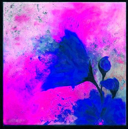 Картина Композиция с цветком №1, смешанная техника, холст, подрамник, жикле, акрил, 60х60 см, автор Светлана Сергеева1523Картина Композиция с цветком №1 - яркая работа с необычным синим цветком. В ней эффектно сочетаются контрастные цветовые пятна. Картина на холсте, пропись акриловыми красками, покрытие лаком, галерейная натяжка на подрамник.Она станет прекрасным подарком для тех, кто хочет что-то необычное, но не готов совсем отказаться от конкретных образов. холст, акрил, деревянный подрамник Внимание!!! Так как это ручная работа, рисунок может слегка отличаться от представленного на фото образца.