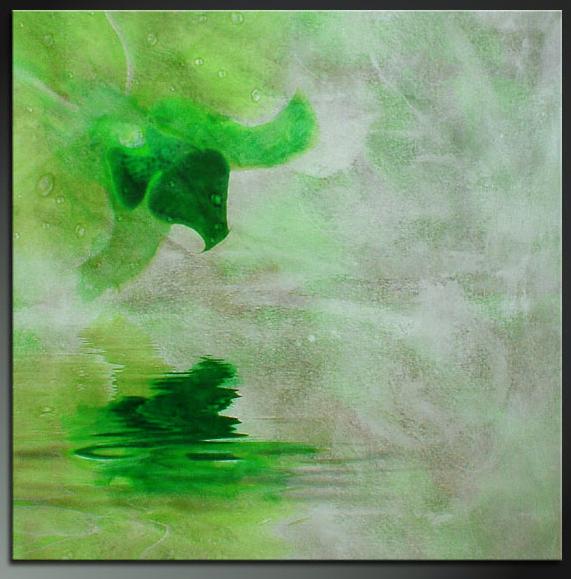 Картина Композиция с цветком №2, смешанная техника, холст, подрамник, жикле, акрил, 60х60 см, автор Светлана СергееваSG 012Картина Композиция с цветком №2 идеально подойдет для спальни или гостиной. Спокойная по цвету работа. Серебристо-зеленые цвета будут успокаивать, умиротворять. При этом картина смотрится очень современно и стильно. Она выполнена в смешанной технике, на холсте, с прописью акриловыми красками. Покрыта лаком, не требует дополнительного оформления в раму. холст, акрил, деревянный подрамник Внимание!!! Так как это ручная работа, рисунок может слегка отличаться от представленного на фото образца.