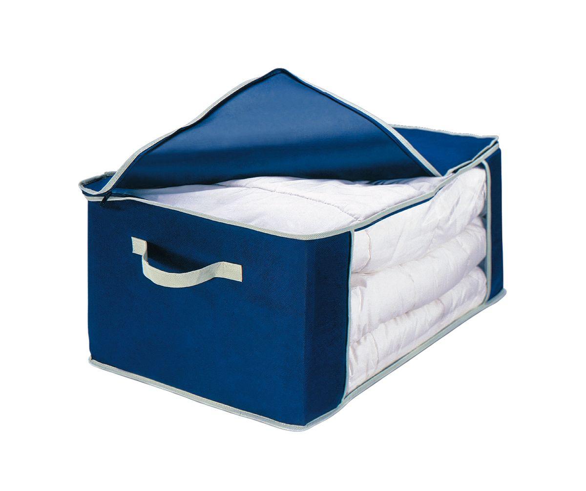 Чехол для одеяла Cosatto, складной, цвет: синий, 60 x 45 x 30 смАС20301Чехол для пухового одеяла Cosatto, изготовленный из дышащего полипропилена, предназначен для хранения одеял, пледов и домашнего текстиля. Полипропилен позволяет воздуху проникать внутрь, при этом надежно защищая вещи от грязи, пыли и насекомых.Имеется специальная прозрачная вставка, которая позволяет легко определить содержимое. Крышка чехла закрывается на молнию высокой прочности. Оригинальный дизайн сделает вашу гардеробную красивой и невероятно стильной.Размер чехла (в собранном виде): 60 см х 45 см х 30 см.