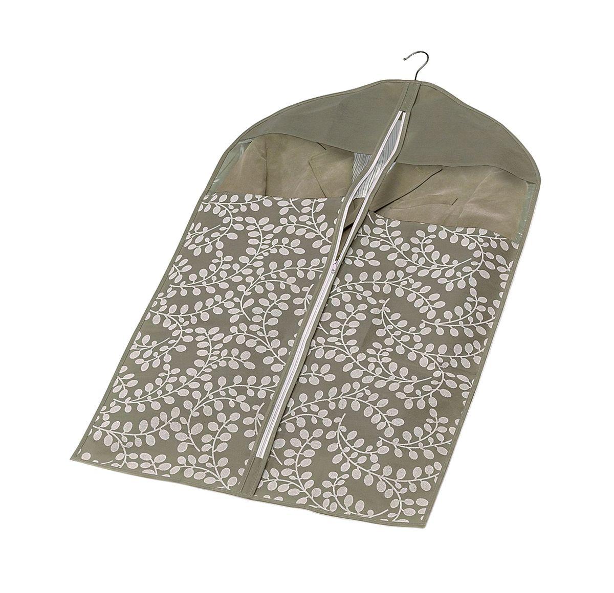 Чехол для пиджака с молнией 100*60см Флораль. COVLCATF20100-49000000-60Легкий чехол из дышащего нетканого материала (полипропилен), безопасного в использовании, для курток, пиджаков и жакетов. Имеет два прозрачных окна, замок и специальное отверстие для крючка вешалки. Материал можно протирать в случае загрязнения влажной салфеткой или тряпкой. Надежно защищает от пыли, моли, солнечных лучей и загрязнения.
