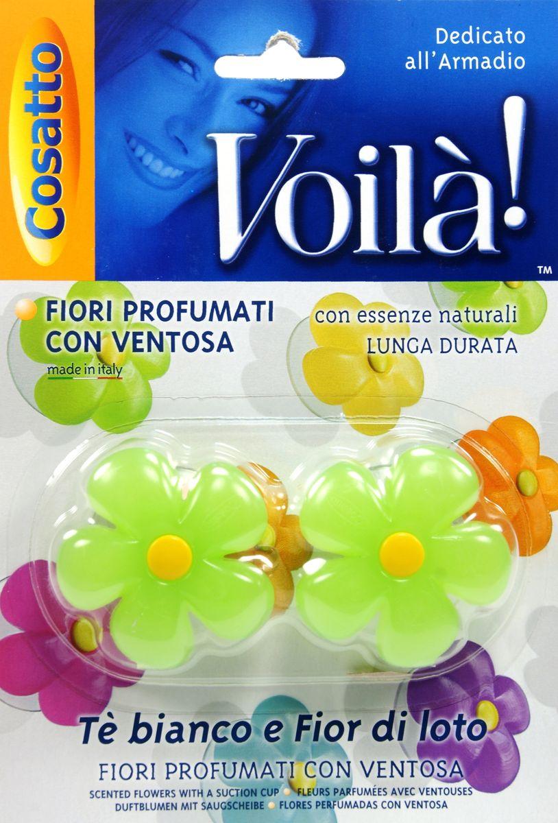 Ароматизатор для шкафа Цветы. Белый чай и фрукты, на присоске ,2 шт. COVLPBF0041004900000360Ароматизаторы представляют собой ароматизированную смолу из натуральных цветочных эссенций в форме цветка на прозрачной присоске. Обладают длительным действием и долго не выветриваются. Безопасны в применении. Пригодны для крепления к любой вертикальной ровной глянцевой поверхности, будь то стекло, зеркало или пластик. Можно использовать в жилых помещениях (спальная и гостиная комнаты, ванная, гардероб), шкафах и комодах. Также применимо как ароматизатор в автомобиле. Во избежание окрашивания не рекомендуется прислонять цветную поверхность ароматизатора к вещам и одежде. Беречь от высоких температур. Хранить в недоступном для маленьких детей месте. Устойчивый приятный запах в ассортименте: шесть различных ароматов - от имбиря и ванили до тиарэ.