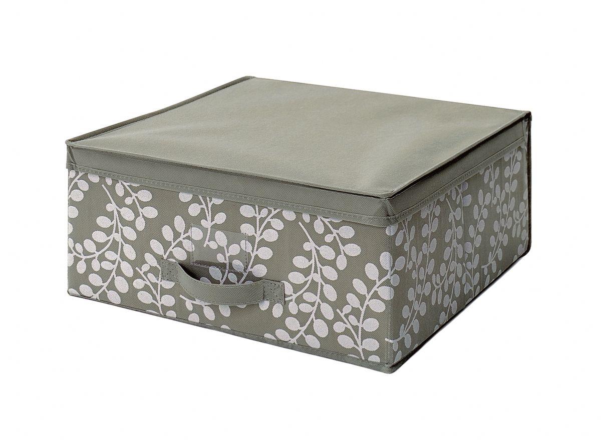 Чехол-коробка 45х45х20 см Флораль. COVLSCTF02ЯФ0156Складывающийся чехол из дышащего нетканого материала (полипропилен), безопасного в использовании, для хранения одежды, одеял, др. вещей. Представляет собой закрывающуюся крышкой коробку жесткой конструкции благодаря наличию внутри плотных листов картона. Пропускает воздух, но при этом надежно защищает от пыли, моли и солнечных лучей. Имеет удобную ручку для переноски.