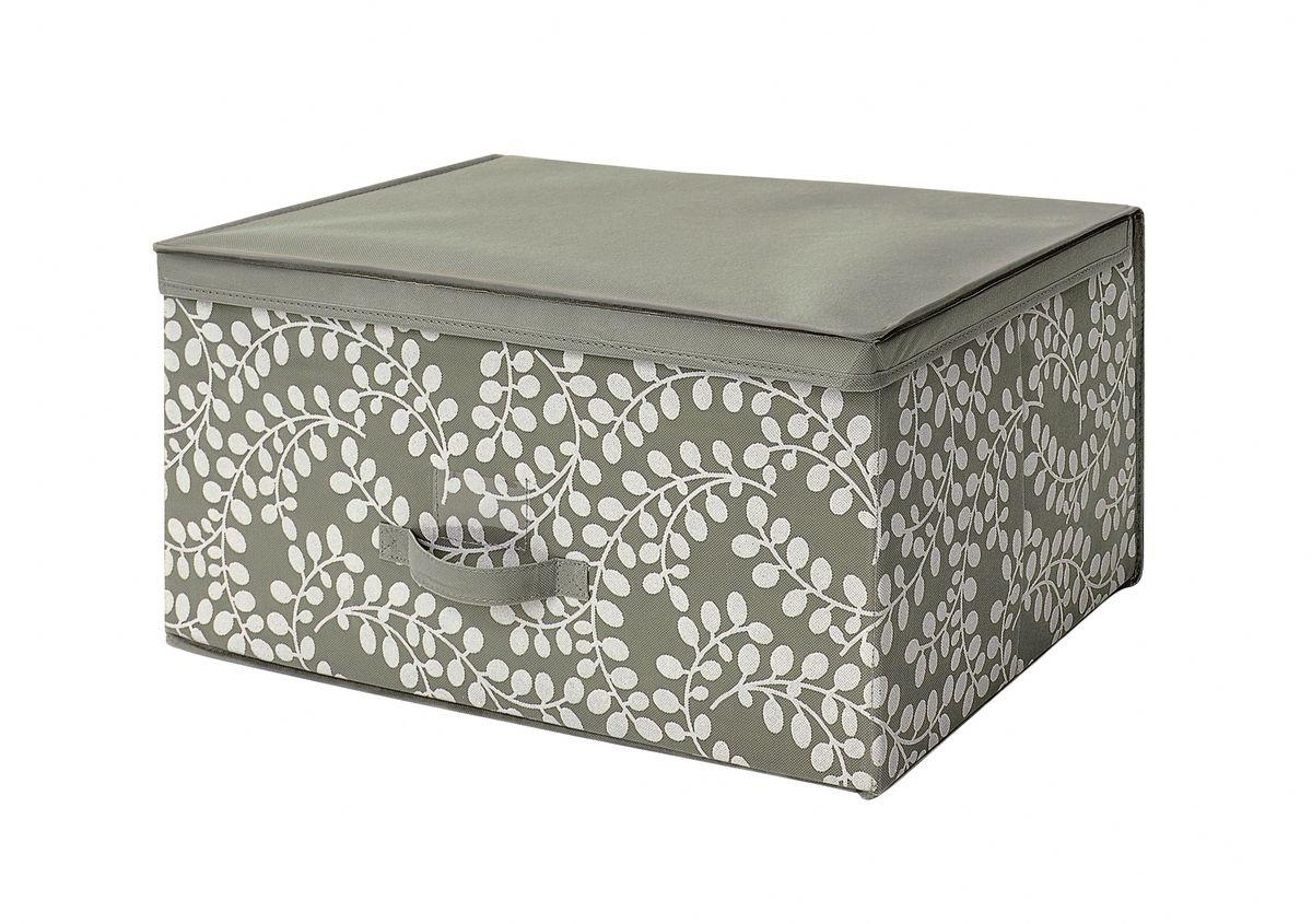 Чехол-коробка 60х45х30 см Флораль. COVLSCTF03TD 0033Складывающийся чехол из дышащего нетканого материала (полипропилен), безопасного в использовании, для хранения габаритной одежды, толстых пуховых одеял, др. вещей. Представляет собой закрывающуюся крышкой коробку жесткой конструкции благодаря наличию внутри плотных листов картона. Пропускает воздух, но при этом надежно защищает от пыли, моли и солнечных лучей. Имеет удобную ручку для переноски.