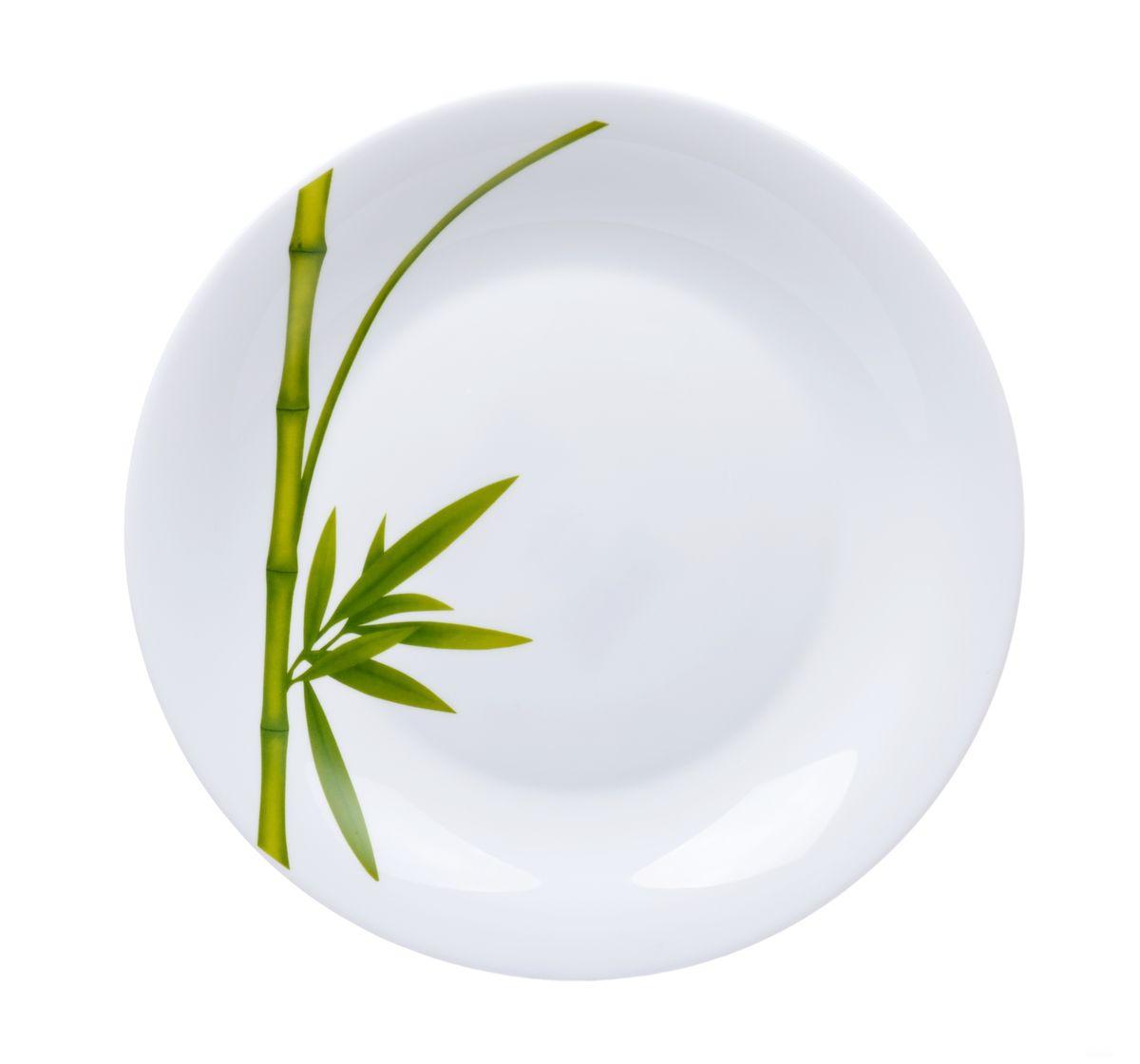 Блюдо La Opala Бамбук, круглое, диаметр 28 см94672Круглое блюдо La Opala Бамбук изготовлено из высококачественной стеклокерамики и декорировано изображением бамбука. Блюдо с высокими бортиками прекрасно подходит для того, чтобы подавать фрукты, конфеты, печенье, пирожки.Крепкое и экологически чистое блюдо - незаменимый и очень полезный аксессуар на кухне. Можно использовать в СВЧ и мыть в посудомоечной машине. Диаметр блюда: 28 см.Высота блюда: 3 см.