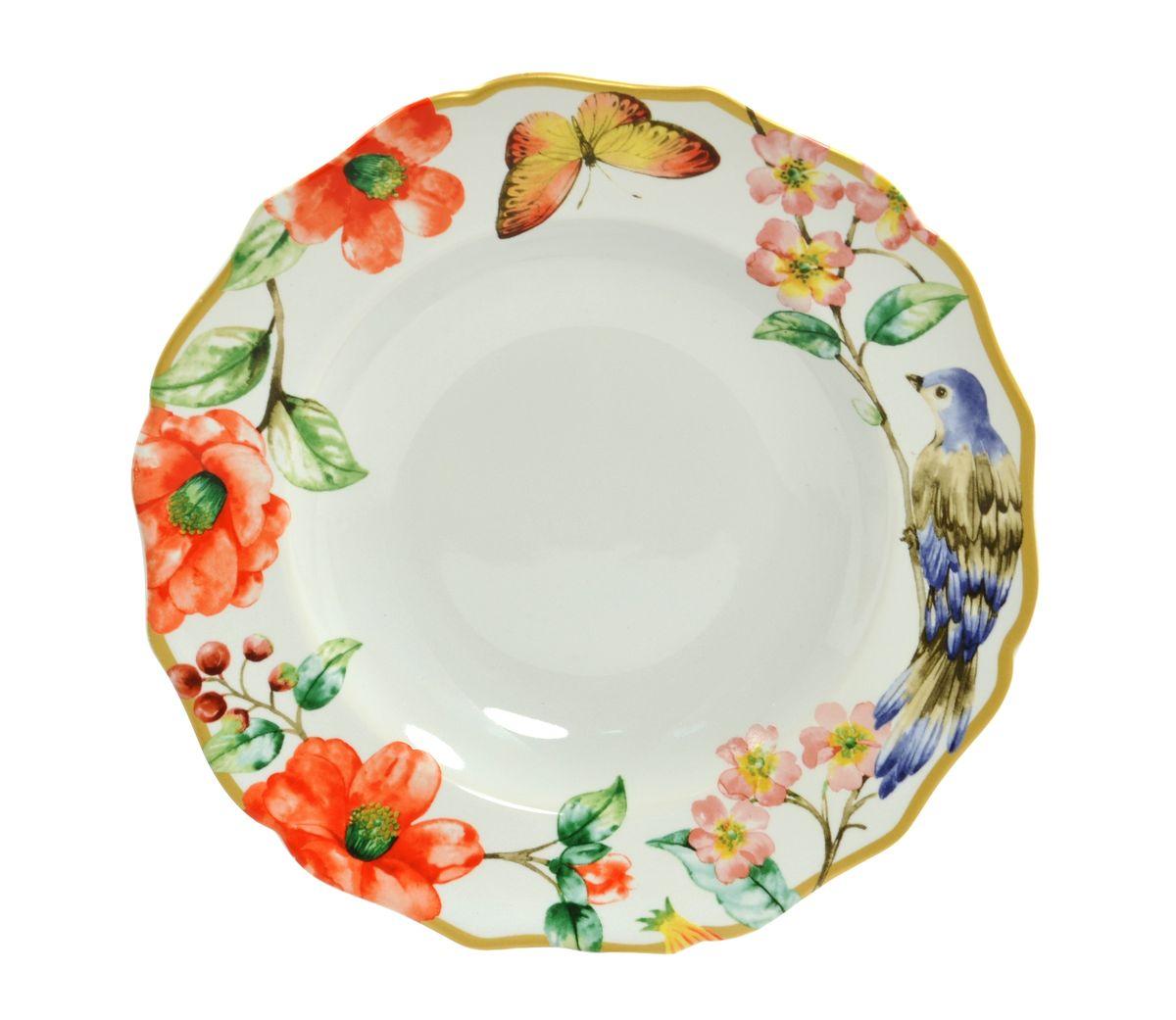 Тарелка глубокая Utana Райский сад, диаметр 23,5 смFS-91909Тарелка глубокая Utana Райский сад изготовлена из высококачественной керамики. Предназначена для красивой подачи различных блюд. Изделие декорировано ярким рисунком. Такая тарелка украсит сервировку стола и подчеркнет прекрасный вкус хозяйки.Можно мыть в посудомоечной машине и использовать в СВЧ. Диаметр: 23,5 см.Высота: 3,5 см.