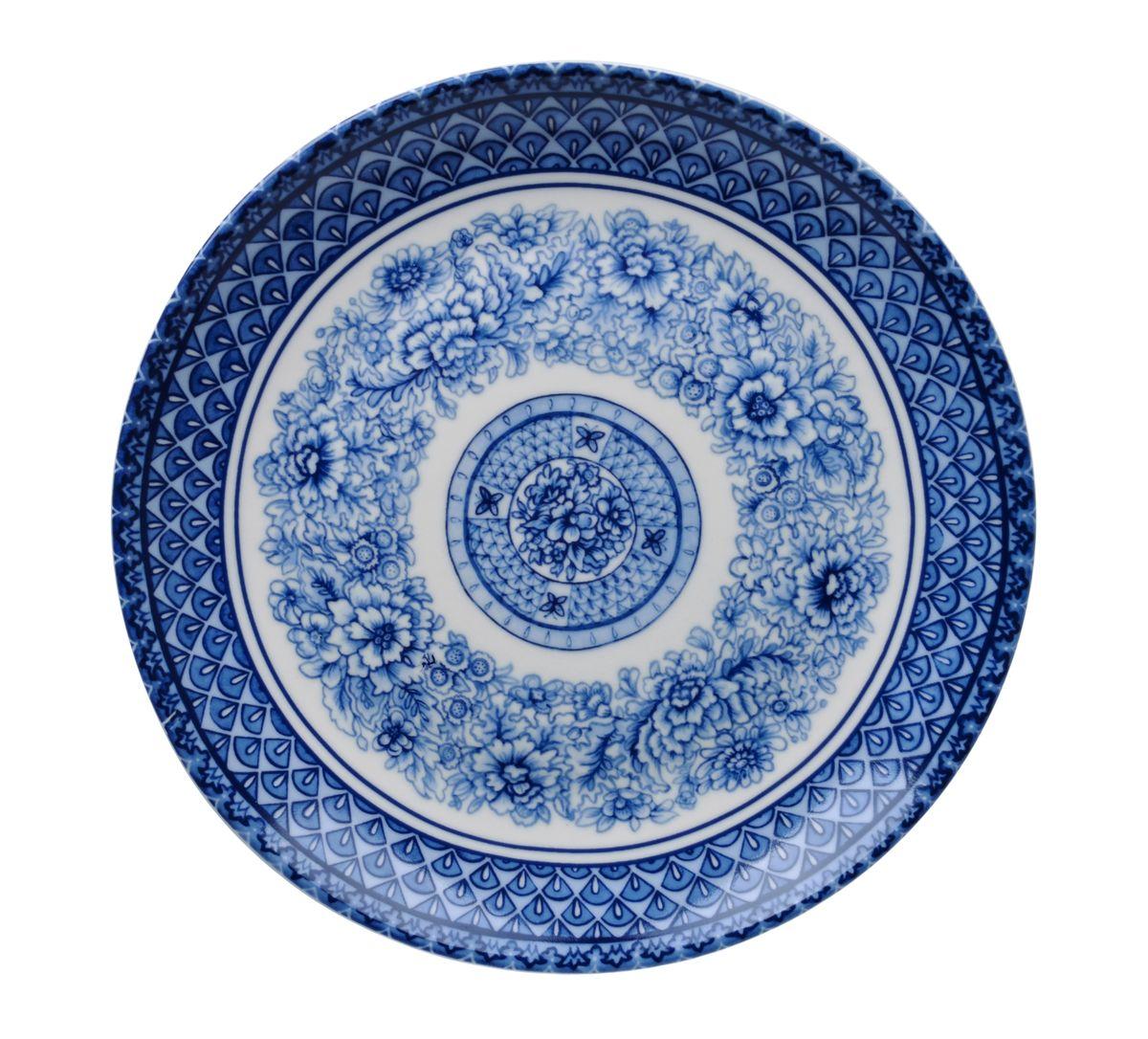 Тарелка для горячего Utana Династия, диаметр 27 см115510Тарелка Utana Династия изготовлена из высококачественной керамики. Предназначена для подачи вторых блюд. Изделие декорировано оригинальным орнаментом. Такая тарелка украсит сервировку стола и подчеркнет прекрасный вкус хозяйки.Можно мыть в посудомоечной машине и использовать в СВЧ. Диаметр: 27 см.Высота: 3,5 см.