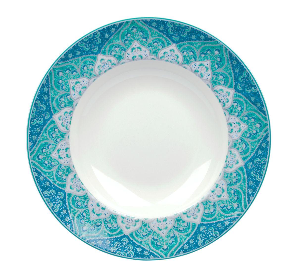 Тарелка глубокая Utana Кашан Блю, диаметр 24 см54 009312Тарелка Utana Кашан Блю изготовлена из высококачественной керамики. Предназначена для подачи супа или салата. Изделие декорировано оригинальным орнаментом. Такая тарелка украсит сервировку стола и подчеркнет прекрасный вкус хозяйки.Можно мыть в посудомоечной машине и использовать в СВЧ. Диаметр: 24 см.Высота: 4,5 см.