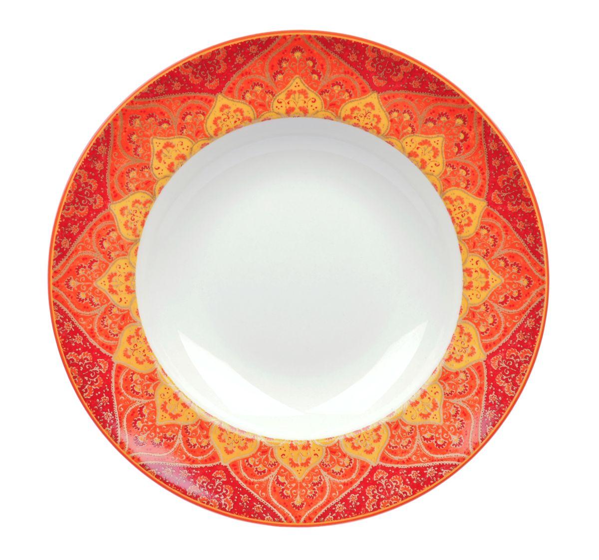 Тарелка глубокая Utana Кашан Рэд, диаметр 24 см54 009312Тарелка Utana Кашан Рэд изготовлена из высококачественной керамики. Предназначена для подачи супа или салата. Изделие декорировано оригинальным орнаментом. Такая тарелка украсит сервировку стола и подчеркнет прекрасный вкус хозяйки.Можно мыть в посудомоечной машине и использовать в СВЧ. Диаметр: 24 см.Высота: 4,5 см.