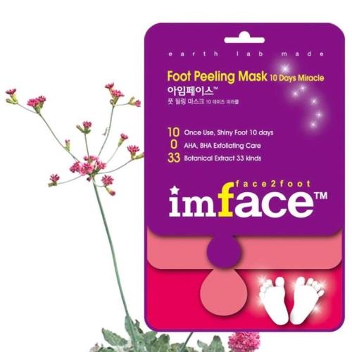 IMFACE Маска пилинг для ног 10 Days Miracle 40 мл086-7-34332Увлажнение, питание, повышение эластичности кожи, разглаживание морщин, уход.