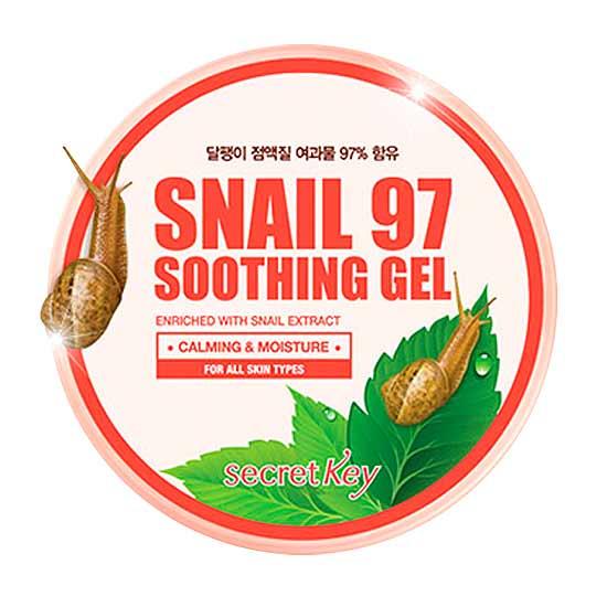 Secret Key Универсальный гель с фильтратом улиточного муцина Snail 97 Soothing Gel 300 гр.24003Содержит 97% экстракта слизи улитки.Можно использовать как для лица,так и для тела,рук и ног круглый год.Ухаживает и увлажняет кожу на длительное время.Быстро впитывается,оставляя ощущение свежести.