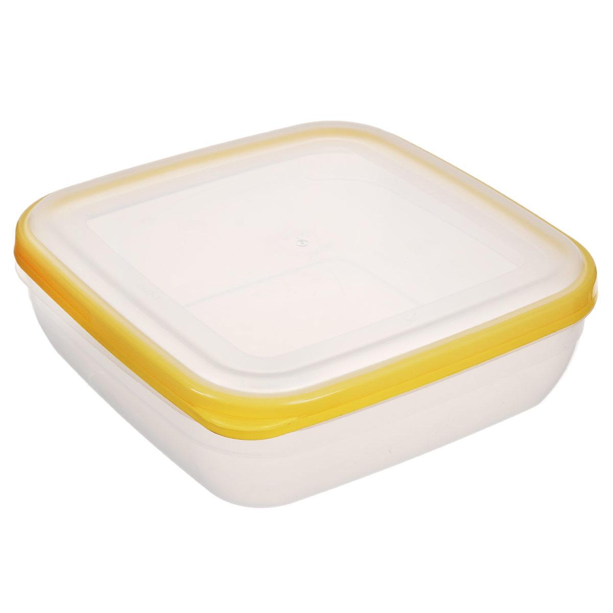 Контейнер для СВЧ Полимербыт Премиум, цвет: желтый, 1,7 лVT-1520(SR)Квадратный контейнер для СВЧ Полимербыт Премиум изготовлен из высококачественного прочного пластика, устойчивого к высоким температурам (до +110°С). Крышка плотно и герметично закрывается, дольше сохраняя продукты свежими и вкусными. Контейнер идеально подходит для хранения пищи, его удобно брать с собой на работу, учебу, пикник или просто использовать для хранения продуктов в холодильнике.Подходит для разогрева пищи в микроволновой печи и для заморозки в морозильной камере (при минимальной температуре -40°С). Можно мыть в посудомоечной машине.