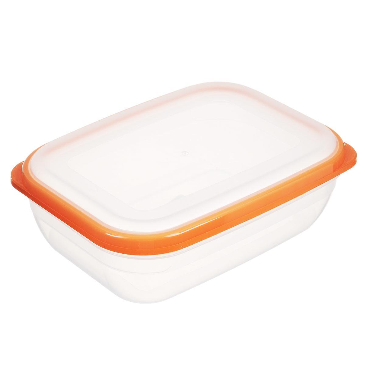Контейнер для СВЧ Полимербыт Премиум, цвет: оранжевый, 1,2 лVT-1520(SR)Прямоугольный контейнер для СВЧ Полимербыт Премиум изготовлен из высококачественного прочного пластика, устойчивого к высоким температурам (до +110°С). Крышка плотно и герметично закрывается, дольше сохраняя продукты свежими и вкусными. Контейнер идеально подходит для хранения пищи, его удобно брать с собой на работу, учебу, пикник или просто использовать для хранения пищи в холодильнике.Подходит для разогрева пищи в микроволновой печи и для заморозки в морозильной камере (при минимальной температуре -40°С). Можно мыть в посудомоечной машине.
