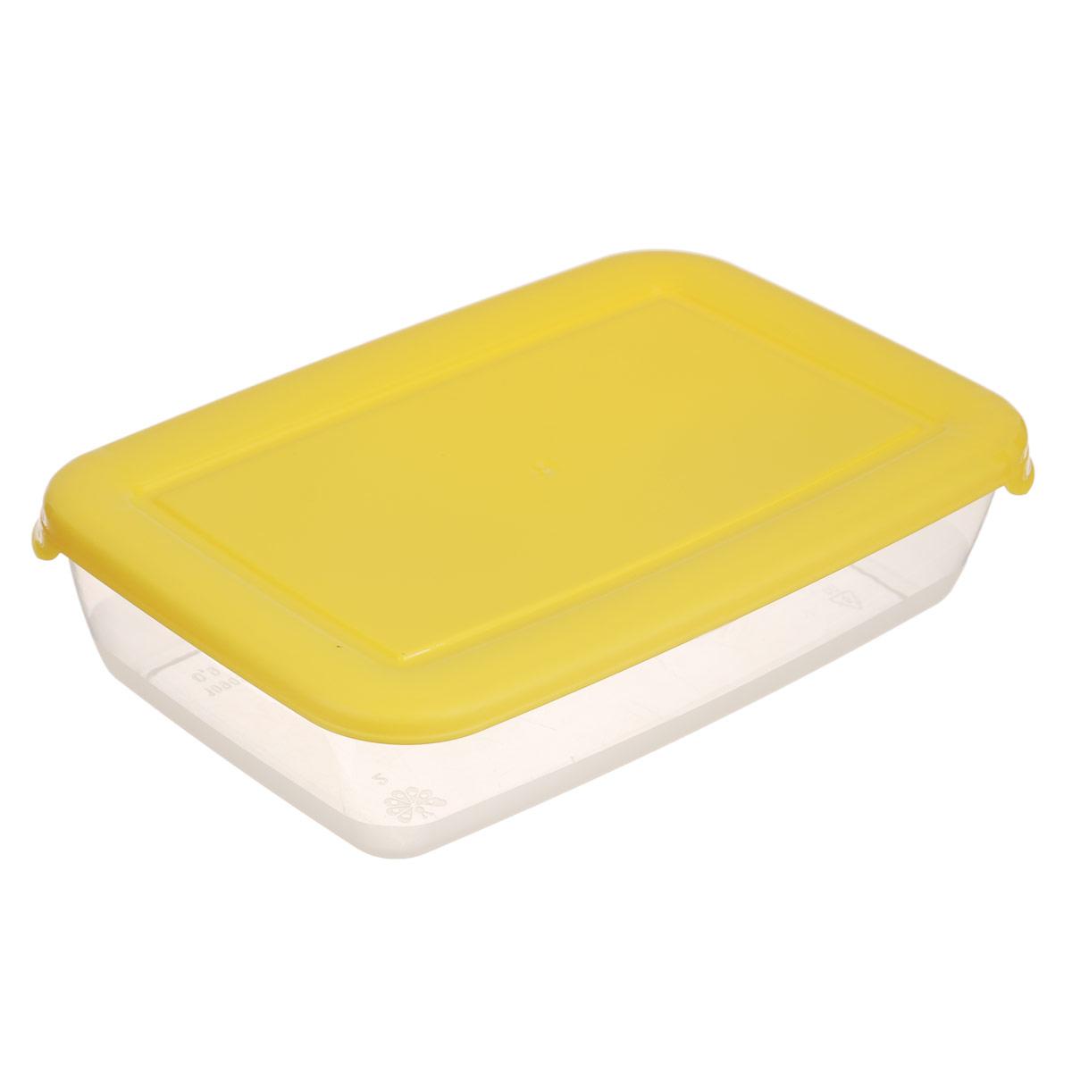 Контейнер для СВЧ Полимербыт Лайт, цвет: желтый, 900 млFA-5125 WhiteПрямоугольный контейнер для СВЧ Полимербыт Лайт изготовлен из высококачественного полипропилена, устойчивого к высоким температурам (до +120°С). Яркая цветная крышка плотно закрывается, дольше сохраняя продукты свежими и вкусными. Контейнер идеально подходит для хранения пищи, его удобно брать с собой на работу, учебу, пикник или просто использовать для хранения пищи в холодильнике.Можно использовать в микроволновой печи и для заморозки в морозильной камере при минимальной температуре -40°С.Можно мыть в посудомоечной машине.