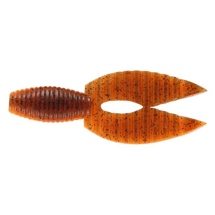 Рачок Tsuribito-Jackson Porky Chunk, цвет: оранжевый, 8,6 см, 6 шт4271825Tsuribito-Jackson Porky Chunk сразу вызвала интерес у опытных рыболовов. Ближе всего, эта приманка, пожалуй, к рачкам. Широкий хвост-плавник состоящий из двух ребристых частей, соединенных между собой, чем-то напоминает клешни рака. Однако, если немного пофантазировать, можно разглядеть в Porky Chunk лягушку.Эта приманка, почти плоская. Сверху она одного цвета, а снизу другого, более яркого, даже кислотного. Силикон, из которого изготовлена приманка очень плотный и жесткий, значит, будет хорошо держаться на крючке, и не сильно страдать при поклевке.Во время проводки хвостик приманки колеблется в вертикальной плоскости. На рывковой и волнообразной проводках, колебания становятся более широкими. Силикон, из которого изготовлен Porky Chunk - плавающий. На паузе примака не опускается на дно, что делает её хорошо заметной для рыбы. Зарекомендовавшая себя проводка - плавная, без резких рывков или же ступеньками.