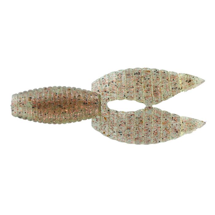 Рачок Tsuribito-Jackson Porky Chunk, цвет: серый, золотой, 8,6 см, 6 штLJSBT03-003Tsuribito-Jackson Porky Chunk сразу вызвала интерес у опытных рыболовов. Ближе всего, эта приманка, пожалуй, к рачкам. Широкий хвост-плавник состоящий из двух ребристых частей, соединенных между собой, чем-то напоминает клешни рака. Однако, если немного пофантазировать, можно разглядеть в Porky Chunk лягушку.Эта приманка, почти плоская. Сверху она одного цвета, а снизу другого, более яркого, даже кислотного. Силикон, из которого изготовлена приманка очень плотный и жесткий, значит, будет хорошо держаться на крючке, и не сильно страдать при поклевке.Во время проводки хвостик приманки колеблется в вертикальной плоскости. На рывковой и волнообразной проводках, колебания становятся более широкими. Силикон, из которого изготовлен Porky Chunk - плавающий. На паузе примака не опускается на дно, что делает её хорошо заметной для рыбы. Зарекомендовавшая себя проводка - плавная, без резких рывков или же ступеньками.