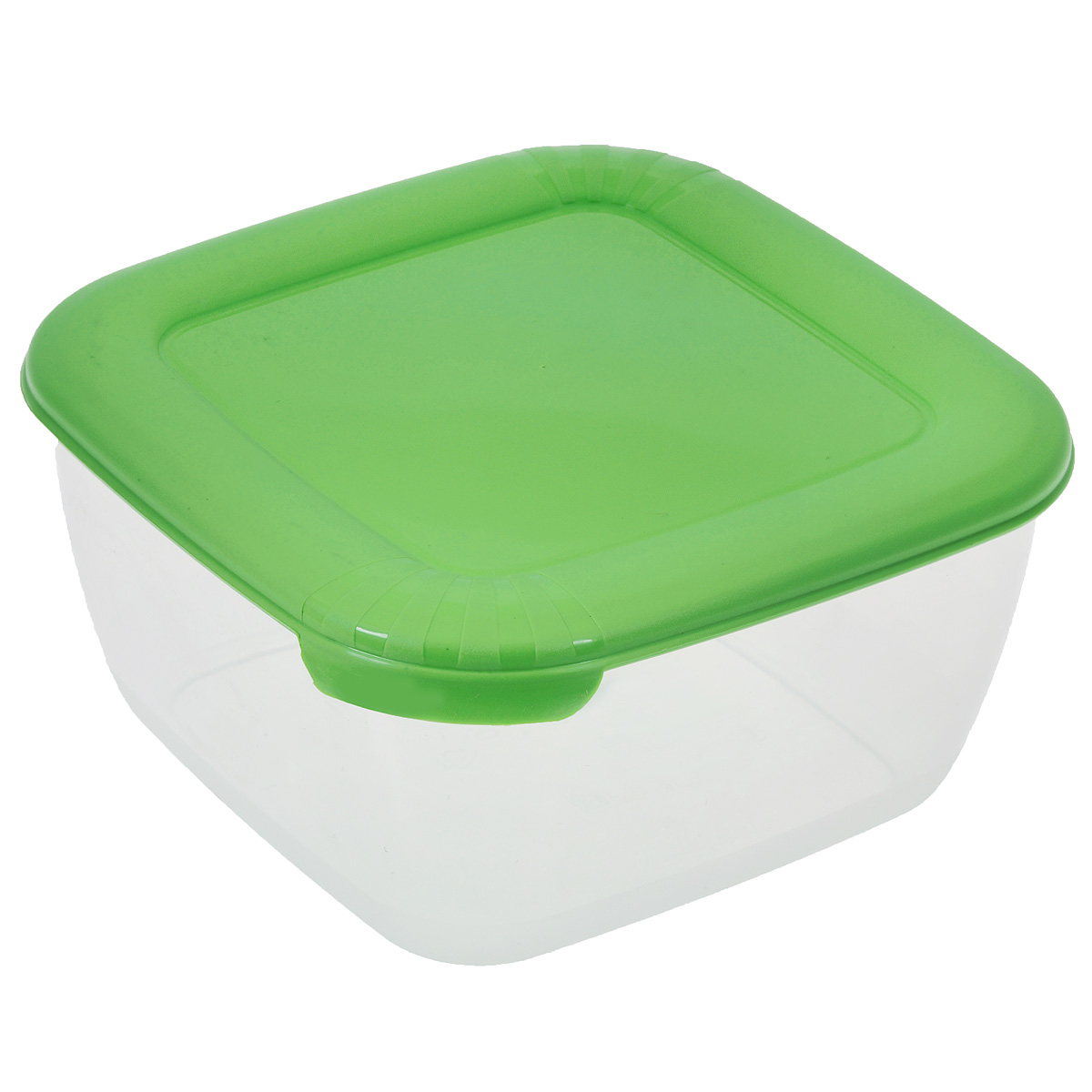 Контейнер для СВЧ Полимербыт Лайт, цвет: прозрачный, зеленый, 950 млVT-1520(SR)Контейнер Полимербыт Лайт квадратной формы, изготовленный из прочного пластика, предназначен специально для хранения пищевых продуктов. Крышка легко открывается и плотно закрывается.Контейнер устойчив к воздействию масел и жиров, легко моется. Прозрачные стенки позволяют видеть содержимое. Контейнер имеет возможность хранения продуктов глубокой заморозки, обладает высокой прочностью. Можно мыть в посудомоечной машине.Контейнер подходит для использования в микроволновой печи без крышки, а также для заморозки в морозильной камере.