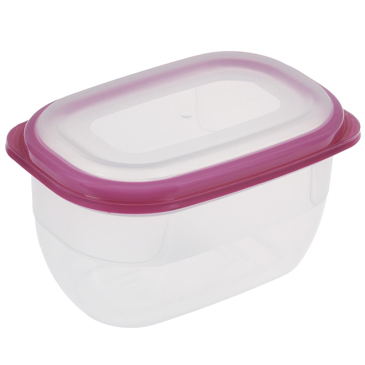 Контейнер для СВЧ Полимербыт Премиум, цвет: прозрачный, розовый, 750 мл21395599Контейнер Полимербыт Премиум прямоугольной формы, изготовленный из прочного пластика, предназначен специально для хранения пищевых продуктов. Крышка легко открывается и плотно закрывается.Контейнер устойчив к воздействию масел и жиров, легко моется. Прозрачные стенки позволяют видеть содержимое. Контейнер имеет возможность хранения продуктов глубокой заморозки, обладает высокой прочностью. Можно мыть в посудомоечной машине.Контейнер подходит для использования в микроволновой печи без крышки, а также для заморозки в морозильной камере.