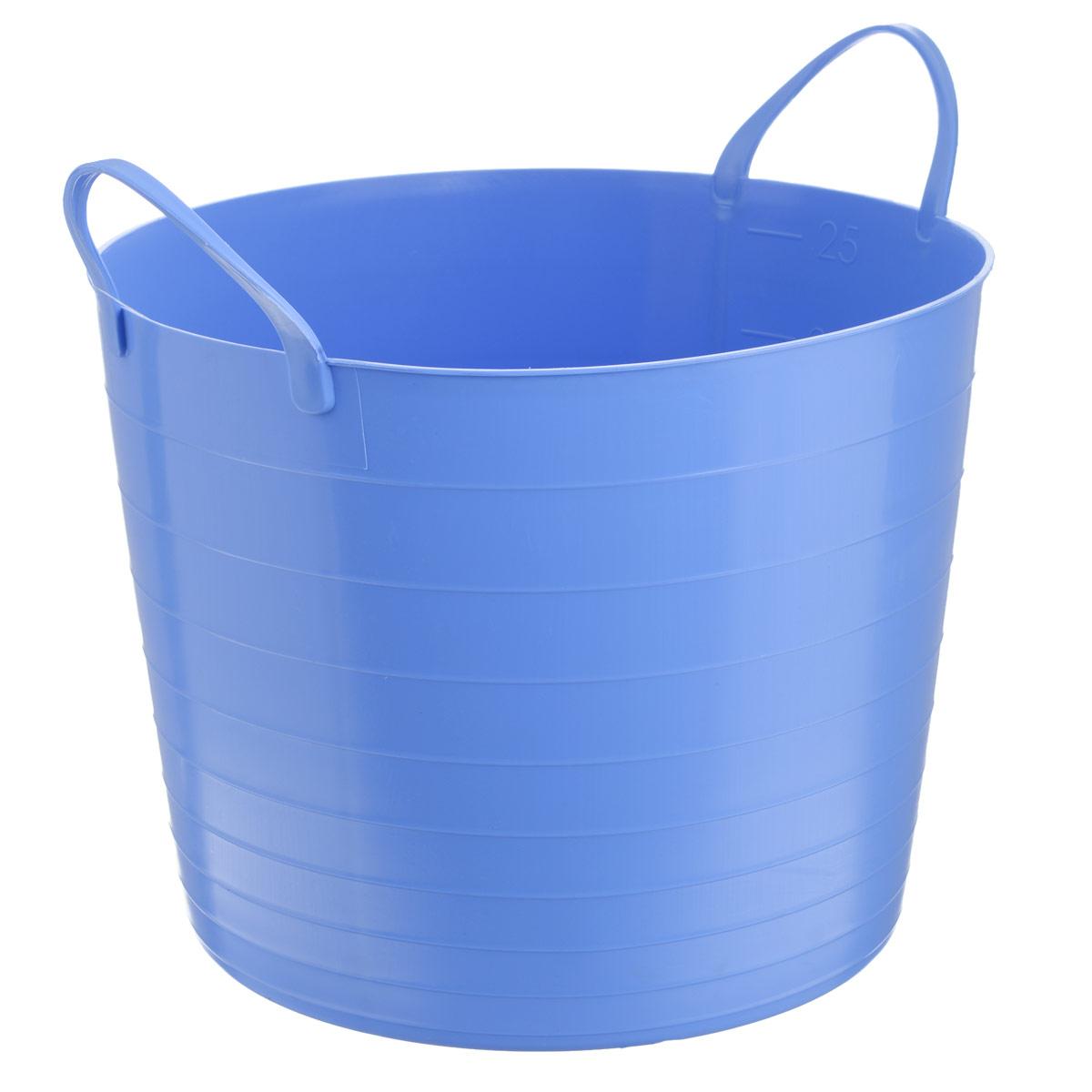 Корзина мягкая Idea, цвет: сиреневый, 27 лCLP446Мягкая корзина Idea изготовлена из гибкого пластика, оснащена двумя удобными ручками. Внутренняя поверхность имеет отметки литража. Такой корзинке можно найти множество применений в быту: она подойдет для строительства, для сбора фруктов, овощей и грибов, для хранения бытовых предметов. Такая корзина пригодится в любом хозяйстве.