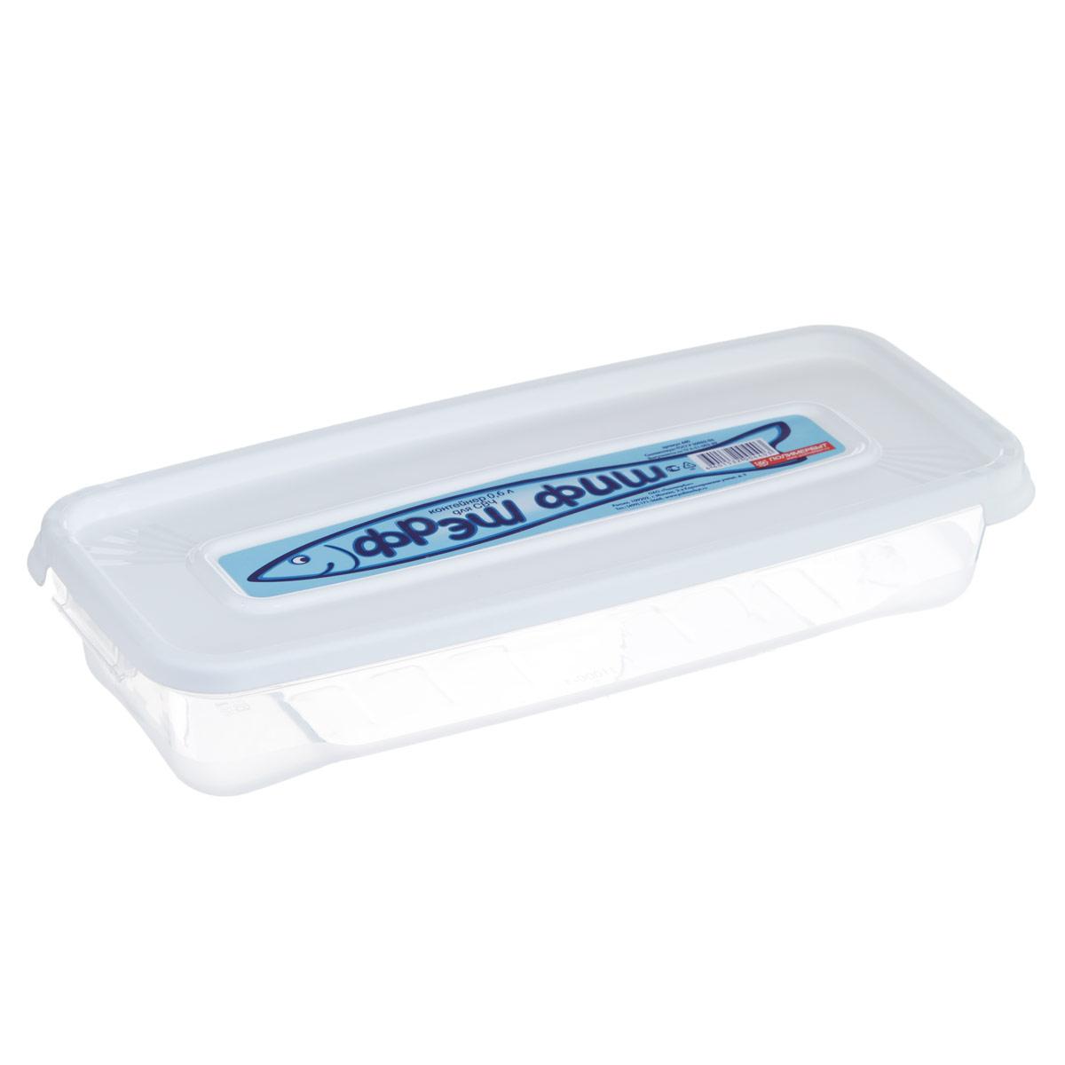 Контейнер для СВЧ Полимербыт Фреш Фиш, цвет: белый, 0,6 л. С440Z-0307Прямоугольный контейнер Полимербыт Фреш Фиш предназначен для хранения пищевых продуктов и не только. Он выполнен из высококачественного пластика. Крышка легко и плотно закрывается. Контейнер устойчив к воздействию масел и жиров, легко моется. Подходит для использования в микроволновых печах. Пищевые контейнеры необыкновенно удобны: в них можно брать еду на работу, за город, ребенку в школу. Именно поэтому они обретают все большую популярность.
