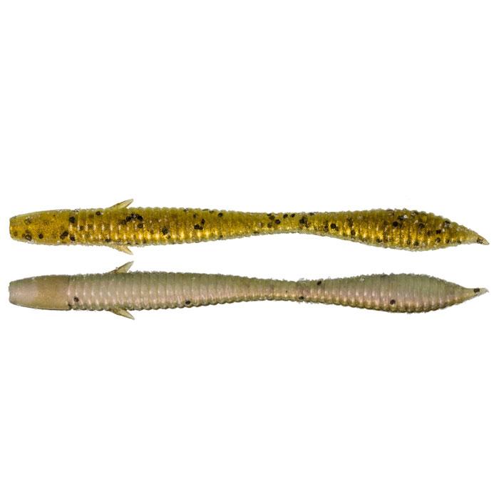 Универсальный червь Tsuribito Toshiki, цвет: серый, золотой, 10 см, 6 шт51251Tsuribito Toshiki - универсальный съедобный червь. Широкие возможности этой приманки открывает уникальная вкусовая добавка. Ассиметричное тело даёт возможность Toshiki при анимировании совершать весьма активные колебания, а при использовании проводок с длинными паузами демонстрировать реалистичные, натуральные движения. Применяется в разнообразных монтажах, при ловле любой рыбы. Приманки двухцветные – брюшко и спинка разных оттенков.
