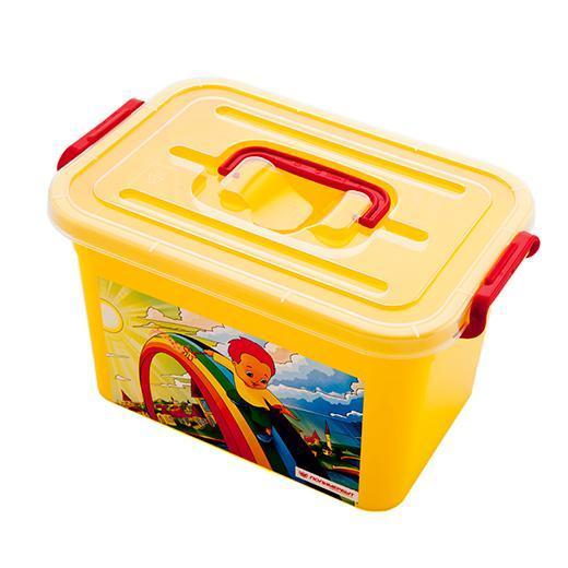Ящик детский РАДУГА 310х200х180мм 6,5л.. С809011004900000360Самые важные вещи в доме – детские. Для хранения детских карандашей, альбомов, пластилина, книг и раскрасок прекрасно подойдет красивый детский ящик «Радуга». Название говорит само за себя – мы выпускаем детские ящики для хранения вещей самых разнообразных цветов и оттенков, чтобы они радовали и мам и малышей.