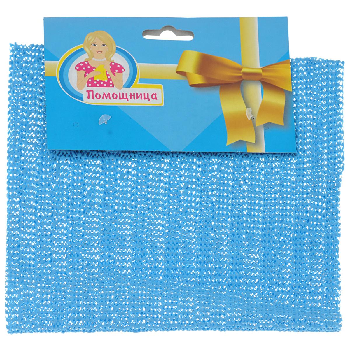 Салфетка для открывания крышек Помощница, цвет: голубой, 40 х 20 см10503Салфетка Помощница изготовлена из ПВХ и предназначена для открывания крышек. Противоскользящий материал изделия и мелкая перфорация помогут вам без труда открыть любую крышку. Салфетка Помощница станет незаменимым помощником для любой хозяйки!Размер: 40 х 20 см.