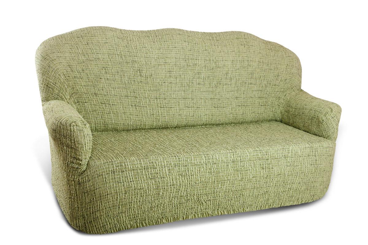 Чехол на 3-х местный диван Еврочехол Плиссе, цвет: фисташковый, 150-210 см7/48-3Чехол на кресло Еврочехол Плиссе выполнен из 50% хлопка, 50% полиэстера. Он идеально подойдет для тех, кто хочет защитить свою мебель от постоянных воздействий. Этот чехол, благодаря прочности ткани, станет идеальным решением для владельцев домашних животных. Кроме того, состав ткани гипоаллергенен, а потому безопасен для малышей или людей пожилого возраста. Такой чехол отлично впишется в любой интерьер. Еврочехол послужит не только практичной защитой для вашей мебели, но и приятно удивит вас мягкостью ткани и итальянским качеством производства. Растяжимость чехла по спинке (без учета подлокотников): 150-210 см.