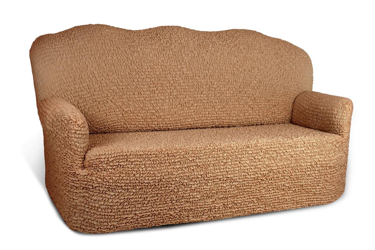 Чехол на 3-х местный диван Еврочехол Микрофибра, цвет: кофейный, 160-240 смTHN132NЧехол на 3-х местный диван Еврочехол Микрофибра выполнен из 100% полиэстера. Он идеально подойдет для тех, кто хочет защитить свою мебель от постоянных воздействий. Этот чехол, благодаря прочности ткани, станет идеальным решением для владельцев домашних животных. Кроме того, натуральный состав ткани гипоаллергенен, а потому безопасен для малышей или людей пожилого возраста. Чехол Микрофибра отлично впишется в любой интерьер, особенно, если это классический стиль, конструктивизм, минимализм, постмодернизм. Еврочехол послужит не только практичной защитой для вашей мебели, но и приятно удивит вас мягкостью ткани и итальянским качеством производства. Растяжимость чехла по спинке (без учета подлокотников): 160-240 см.