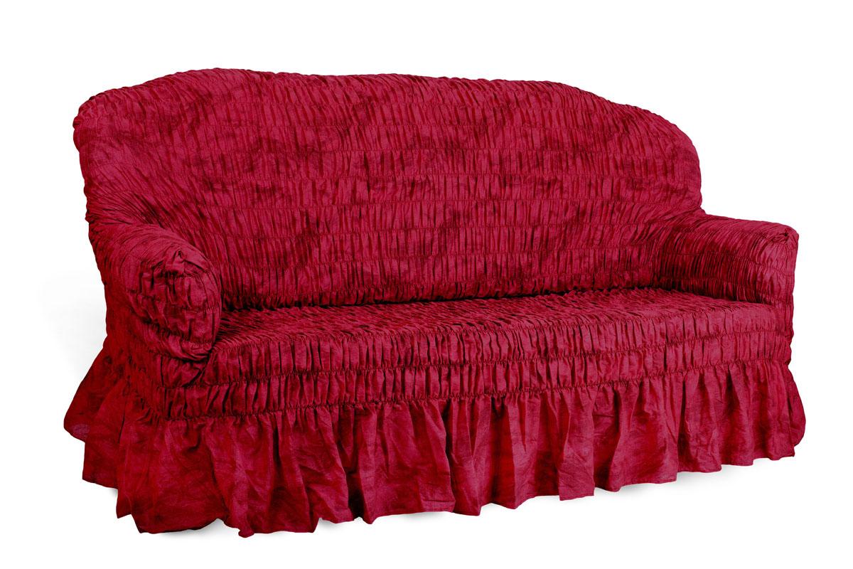 Чехол на 2-х местный диван Еврочехол Фантазия, цвет: вишня, 100-160 см54 009318Чехол на 2-х местный диван Еврочехол Фантазия выполнен из 50% хлопка, 50% полиэстера. Он идеально подойдет для тех, кто хочет защитить свою мебель от постоянных воздействий. Этот чехол, благодаря прочности ткани, станет идеальным решением для владельцев домашних животных. Кроме того, состав ткани гипоаллергенен, а потому безопасен для малышей или людей пожилого возраста. Такой чехол отлично впишется в любой интерьер. Еврочехол послужит не только практичной защитой для вашей мебели, но и приятно удивит вас мягкостью ткани и итальянским качеством производства. Растяжимость чехла по спинке (без учета подлокотников): 100-160 см.