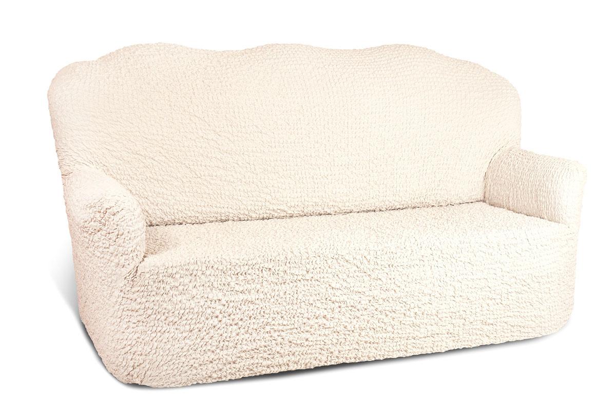 Чехол на 2-х местный диван Еврочехол Модерн, цвет: шампань, 100-150 см80625Чехол на 2-х местный диван Еврочехол Модерн выполнен из 60% хлопка, 35% полиэстера, 5% эластана. Он идеально подойдет для тех, кто хочет защитить свою мебель от постоянных воздействий. Этот чехол, благодаря прочности ткани, станет идеальным решением для владельцев домашних животных. Кроме того, состав ткани гипоаллергенен, а потому безопасен для малышей или людей пожилого возраста. Такой чехол отлично впишется в любой интерьер. Еврочехол послужит не только практичной защитой для вашей мебели, но и приятно удивит вас мягкостью ткани и итальянским качеством производства. Растяжимость чехла по спинке: 100-150 см.