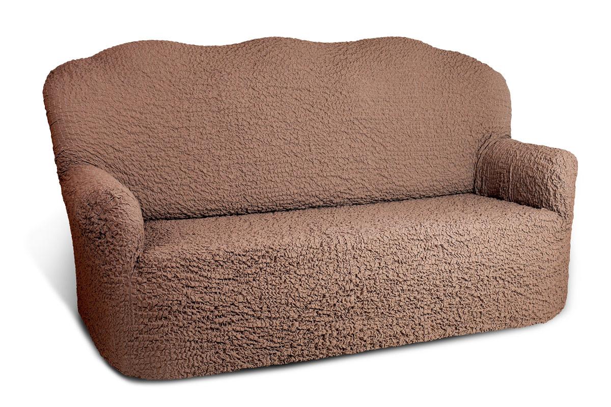 Чехол на 2-х местный диван Еврочехол Модерн, цвет: какао, 100-150 см300250_Россия, синийЧехол на 2-х местный диван Еврочехол Модерн выполнен из 60% хлопка, 35% полиэстера, 5% эластана. Он идеально подойдет для тех, кто хочет защитить свою мебель от постоянных воздействий. Этот чехол, благодаря прочности ткани, станет идеальным решением для владельцев домашних животных. Кроме того, состав ткани гипоаллергенен, а потому безопасен для малышей или людей пожилого возраста. Такой чехол отлично впишется в любой интерьер. Еврочехол послужит не только практичной защитой для вашей мебели, но и приятно удивит вас мягкостью ткани и итальянским качеством производства. Растяжимость чехла по спинке: 100-150 см.