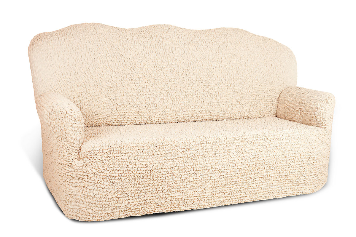 Чехол на 2-х местный диван Еврочехол Микрофибра, цвет: ванильный, 100-160 см1/3-1Чехол на 2-х местный диван Еврочехол Микрофибра выполнен из 100% полиэстера. Он идеально подойдет для тех, кто хочет защитить свою мебель от постоянных воздействий. Этот чехол, благодаря прочности ткани, станет идеальным решением для владельцев домашних животных. Кроме того, состав ткани гипоаллергенен, а потому безопасен для малышей или людей пожилого возраста. Такой чехол отлично впишется в любой интерьер. Еврочехол послужит не только практичной защитой для вашей мебели, но и приятно удивит вас мягкостью ткани и итальянским качеством производства. Растяжимость чехла по спинке (без учета подлокотников): 100-160 см.