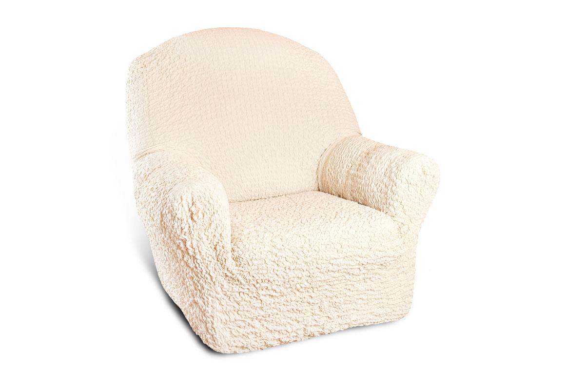 Чехол на кресло Еврочехол Модерн, цвет: шампань, 60-90 см1/1-1Чехол на кресло Еврочехол Модерн выполнен из 60% хлопка, 35% полиэстера, 5% эластана. Благодаря прочности ткани этот чехол для мебели станет идеальным решением защиты мебели для владельцев домашних животных. Кроме того, натуральный состав ткани гипоаллергенен, а потому безопасен для малышей или людей пожилого возраста. Такой чехол обогатит интерьер вашего дома. Чехол на кресло Еврочехол Модерн актуален для таких стилевых решений, как скандинавский, лофт, английский, эко-стиль, Нью-йоркский. Мягкая ткань из высокопрочного хлопка обеспечит вашему креслу достойную защиту от воздействий, а современный стиль подарит ежедневную радость от обновленной обстановки в доме. Растяжимость чехла по спинке (без учета подлокотников): 60-90 см.
