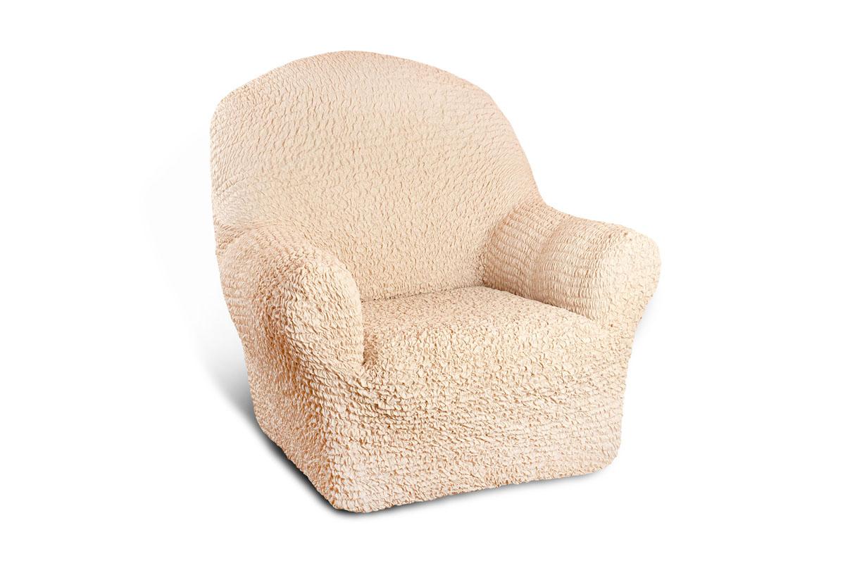 Чехол на кресло Еврочехол Микрофибра, цвет: ваниль, 60-100 см12723Чехол на кресло Еврочехол Микрофибра выполнен из 100% полиэстера. Такой состав ткани гипоаллергенен, а потому безопасен для малышей или людей пожилого возраста. Такой чехол защитит вашу мебель от повседневных воздействий. Дизайн чехла отлично впишется в интерьер. Приятный оттенок придаст ощущение свежести и единения с природой. Чехол Микрофибра - отличный вариант для мебели в гостиной, кухне, спальне, детской или прихожей! Интерьер в стиле эко, кантри, фьюжн, хай-тек, скандинавских мотивов и других. Утонченный итальянский дизайн чехла отлично впишется в городские и загородные дома. Гарантированное итальянское качество производства обеспечит долгое пользование.Растяжимость чехла по спинке (без учета подлокотников): 60-100 см.