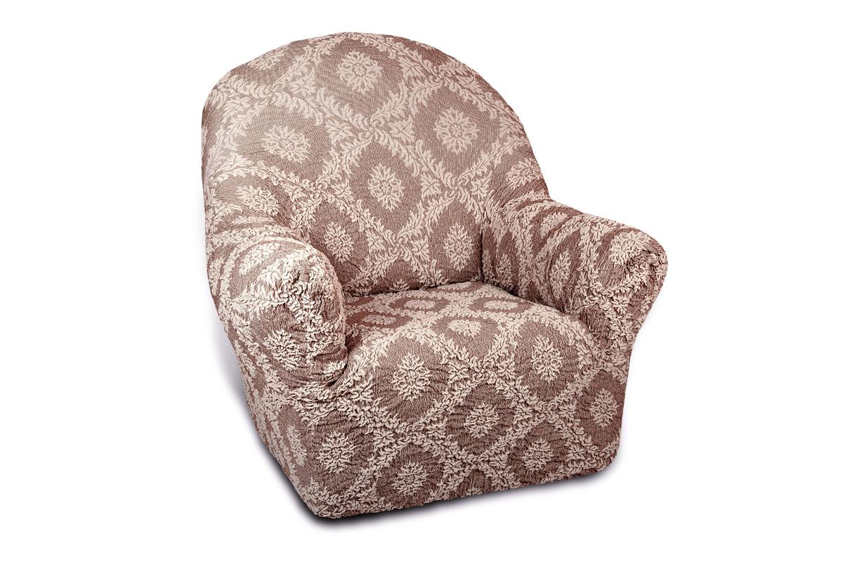Чехол на кресло Еврочехол Жаккард. Сан-Марино, 60-90 см300250_Россия, синийЧехол на кресло Еврочехол Жаккард. Сан-Марино выполнен из 60% хлопка, 35% полиэстера, 5% эластана. Он особенно актуален для тех, кто хочет защитить свою мебель от постоянных воздействий. Этот чехол для мебели, благодаря прочности ткани, станет идеальным решением для владельцев домашних животных. Кроме того, натуральный состав ткани гипоаллергенен, а потому безопасен для малышей или людей пожилого возраста. Общая цветовая гамма чехла характеризуется мягкими, спокойными тонами. Такой чехол по достоинству оценят любители романтизма, ампира и других интерьерных стилей, отличающихся элегантностью, изысканностью и чувственностью. Гостиная, комната, кухня или детская - чехол на кресло Жаккард. Сан-Марино украсит любое помещение в вашем доме. А сторонники практичности могут быть уверены в том, что он прослужит 3-5 лет! Растяжимость чехла по спинке (без учета подлокотников): 60-90 см.
