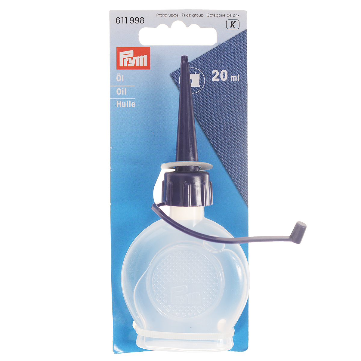 Масло для швейных машин Prym, 20 мл-611998SFC.004Масло Prym высшего качества предназначено для смазки трущихся деталей швейных машин и оверлоков. Оно необходимо для нормальной работы инструментов, а также продления их срока службы. Масло бесцветное, не содержит смол и кислот, а также не имеет резкого запаха. Оно упаковано в пластиковую бутылочку с длинным носиком-дозатором для удобного нанесения и распределения.Объем: 20 мл.