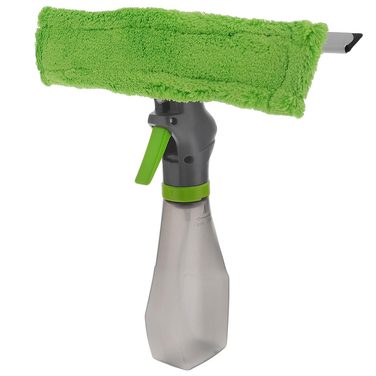 Стеклоочиститель Flatel, с распылителем и насадкой из микрофибры10503Стеклоочиститель Flatel, с распылителем и насадкой из микрофибры состоит из 3 частей: водосгона, насадки из микрофибры, емкости для жидкости. Прекрасно подойдет для влажной и сухой уборки - моет и полирует без разводов. Насадка из микрофибры чистит сильные загрязнения даже без моющих средств, а водосгон хорошо удаляет воду и пар. Стеклоочиститель подходит для домашнего использования, например, для мытья стекол, зеркал, душевых кабин, керамической плитки и уборки автомобиля. Насадка из микрофибры крепится на крепких липучках. Ее можно стирать в стиральной машине при температуре 60°C или вручную. Стеклоочиститель оснащен удобной емкостью, которая позволяет дозировать нужное количество воды или моющего средства. Длина водосгона: 25 см. Длина насадки из микрофибры: 26 см. Объем емкости: 250 мл.