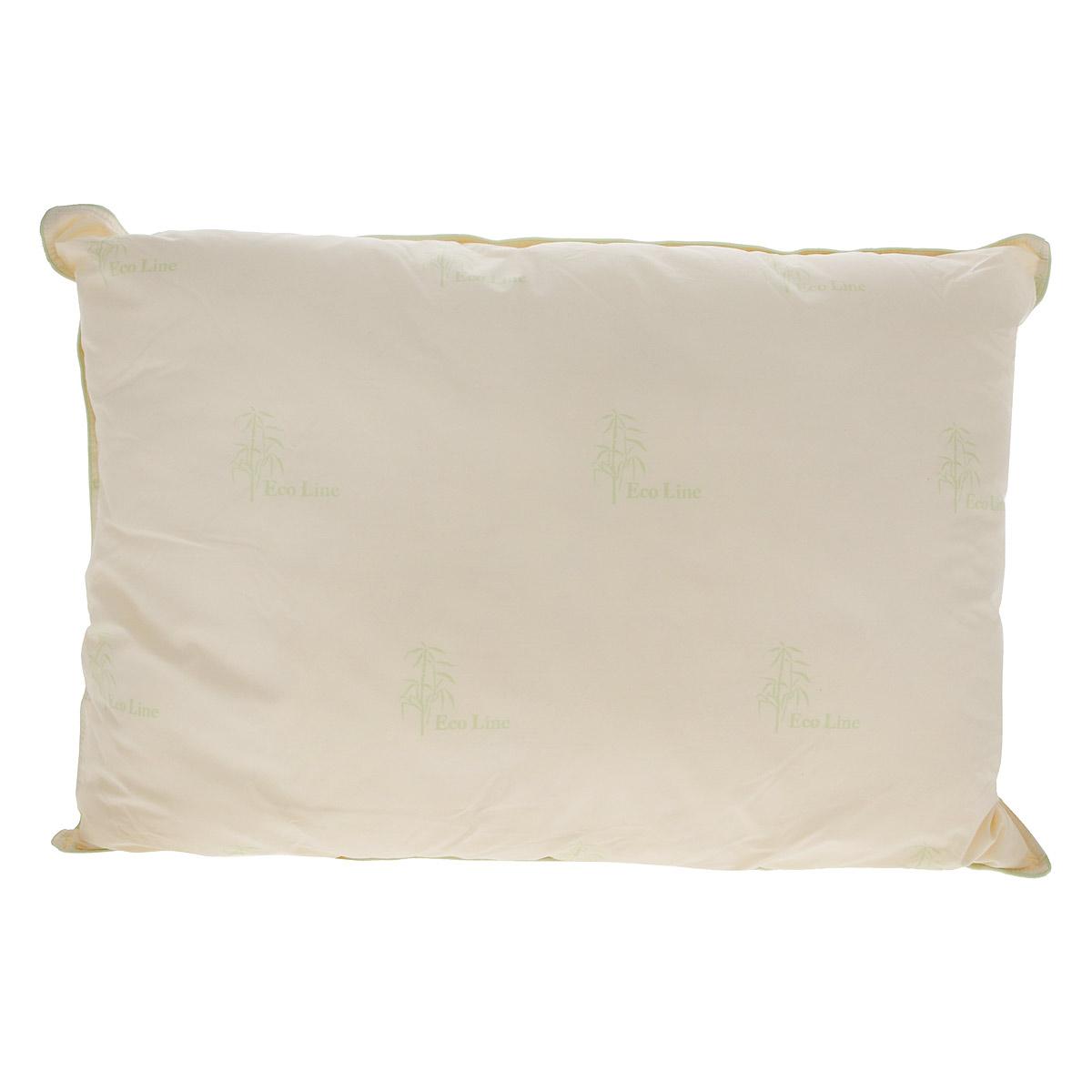 Подушка La Prima Бамбук, наполнитель: бамбук, полиэфирное волокно, цвет: бежевый, 50 х 70 смS03301004Подушка La Prima Бамбук очень легкая, воздушная и одновременно теплая. Идеально подойдет тем, кто ценит мягкость и тепло. Такое изделие подарит комфортный сон. Чехол подушки выполнен из 100% хлопка, оформлен изображением бамбука. Наполнитель - натуральные волокна бамбука. Бамбук обладает антибактериальным эффектом, поддерживает внутренний микроклимат, успокаивает, восстанавливает силы, гипоаллергенен. Ручная стирка при температуре 30°С. Материал чехла: 100% хлопок.Наполнитель: бамбук, полиэфирное волокно.