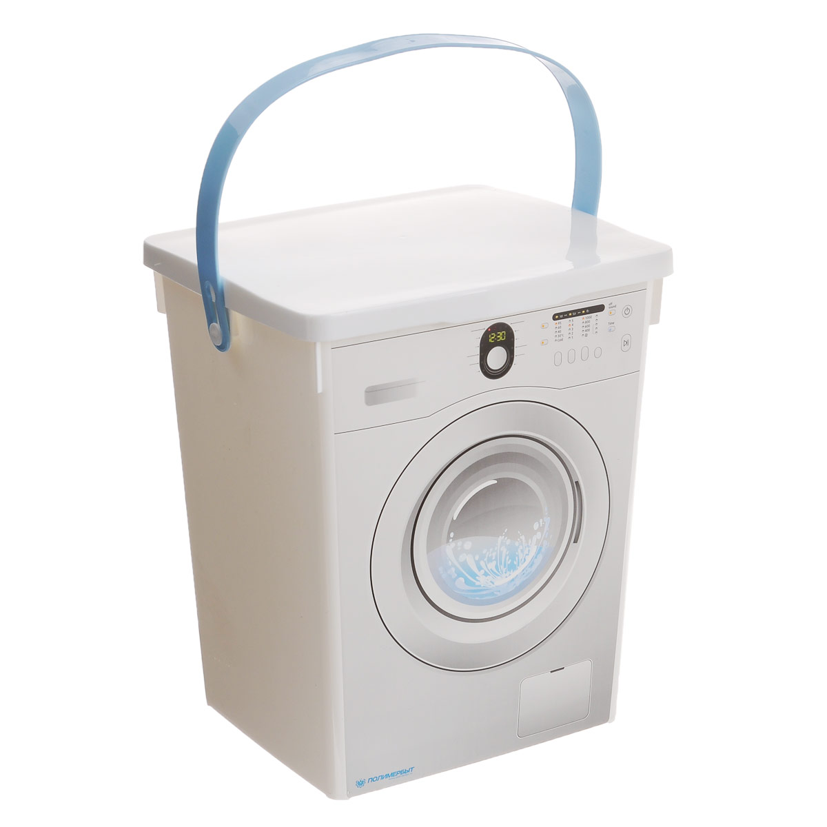 Контейнер для стирального порошка Полимербыт, 5 л25051 7_желтыйКонтейнер для стирального порошка Полимербыт изготовлен из высококачественного пластика.Сверху он закрывается надежной откидной крышкой. Контейнер очень вместителен и не позволит просочиться влаге. Декорирован принтом в виде стиральной машины. Для удобства переноски изделие снабжено прочной ручкой.Объем контейнера: 5 л.