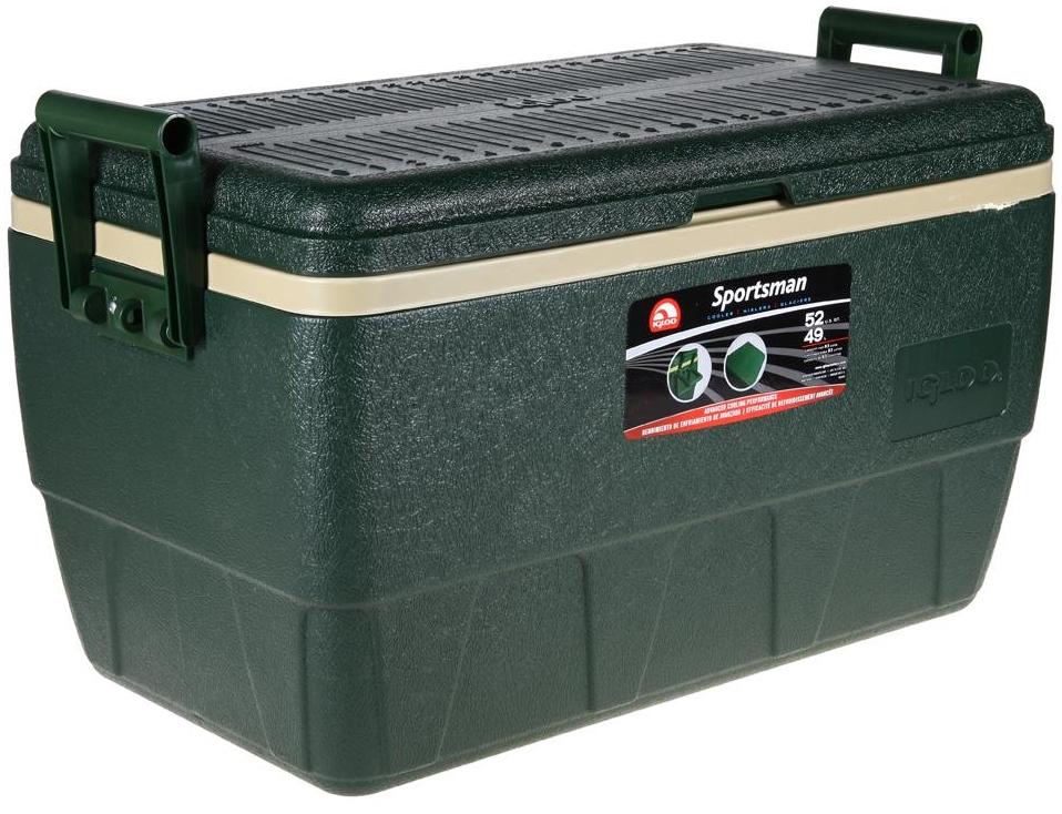 Изотермический контейнер Igloo Sportsman, цвет: зеленый, 49 л изотермический контейнер igloo sportsman цвет зеленый 28 л