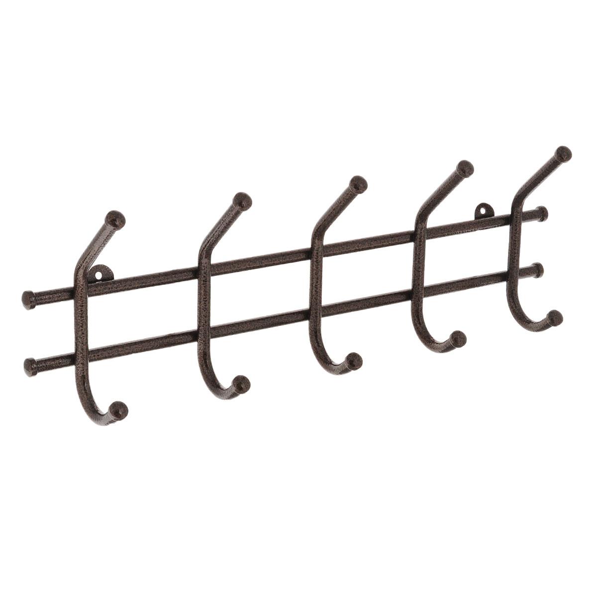 Вешалка настенная ЗМИ Норма 5, 5 крючковБрелок для ключейМеталлическая вешалка с полимерным покрытием ЗМИ Норма 5 имеет пять крючков для одежды. Крепится к стене при помощи двух шурупов (не входят в комплект).Вешалка ЗМИ Норма 5 идеально подходит для маленьких прихожих и ограниченных пространств.