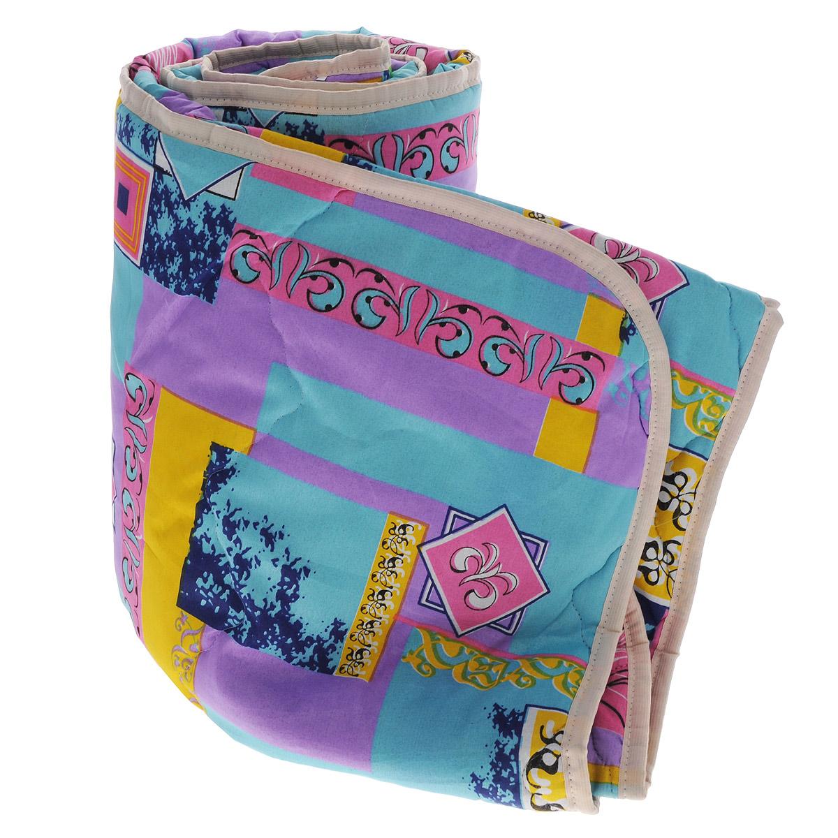 Одеяло облегченное OL-Tex Miotex, наполнитель: холфитекс, цвет: желтый, бирюзовый, сиреневый, 140 см х 205 смV30 AC DCЧехол облегченного одеяла OL-Tex Miotex выполнен из высококачественного полиэстера. Наполнитель - холфитекс. Одеяло простегано - значит, наполнитель внутри будет всегда распределен равномерно. Изделие оформлено ярким рисунком.Идеально подойдет тем, кто ценит мягкость и тепло. Ручная стирка при температуре 30°С. Материал чехла: 100% полиэстер.Наполнитель: холфитекс.