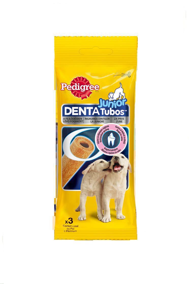 Лакомство для щенков Pedigree Denta Tubos Junior, 3 шт0120710Лакомство Pedigree Denta Tubos Junior выполнены в виде жевательных палочек для щенков всех пород со вкусом курицы. Содержит кальций - для укрепления костей и зубов, омега 3 - для шерсти, витамины и минералы - для поддержания природной защиты организма. Состав: злаки, продукты растительного происхождения, мясо и продукты животного происхождения (курица 4%), сахар, экстракты растительного белка, минералы, семена, травы. Содержание полезных веществ и витаминов (в 100 г): белки - 8,0 %, жиры - 1,8 %, зола - 6,0 %, клетчатка - 1,0%, кальций - 0,7 %, моносульфат железа - 54 мг, витамин А - 5777 МЕ, витамин Е - 57 мг, омега 3 - 1160 мг. Количество в упаковке: 3 шт. Вес упаковки: 72 г. Товар сертифицирован.