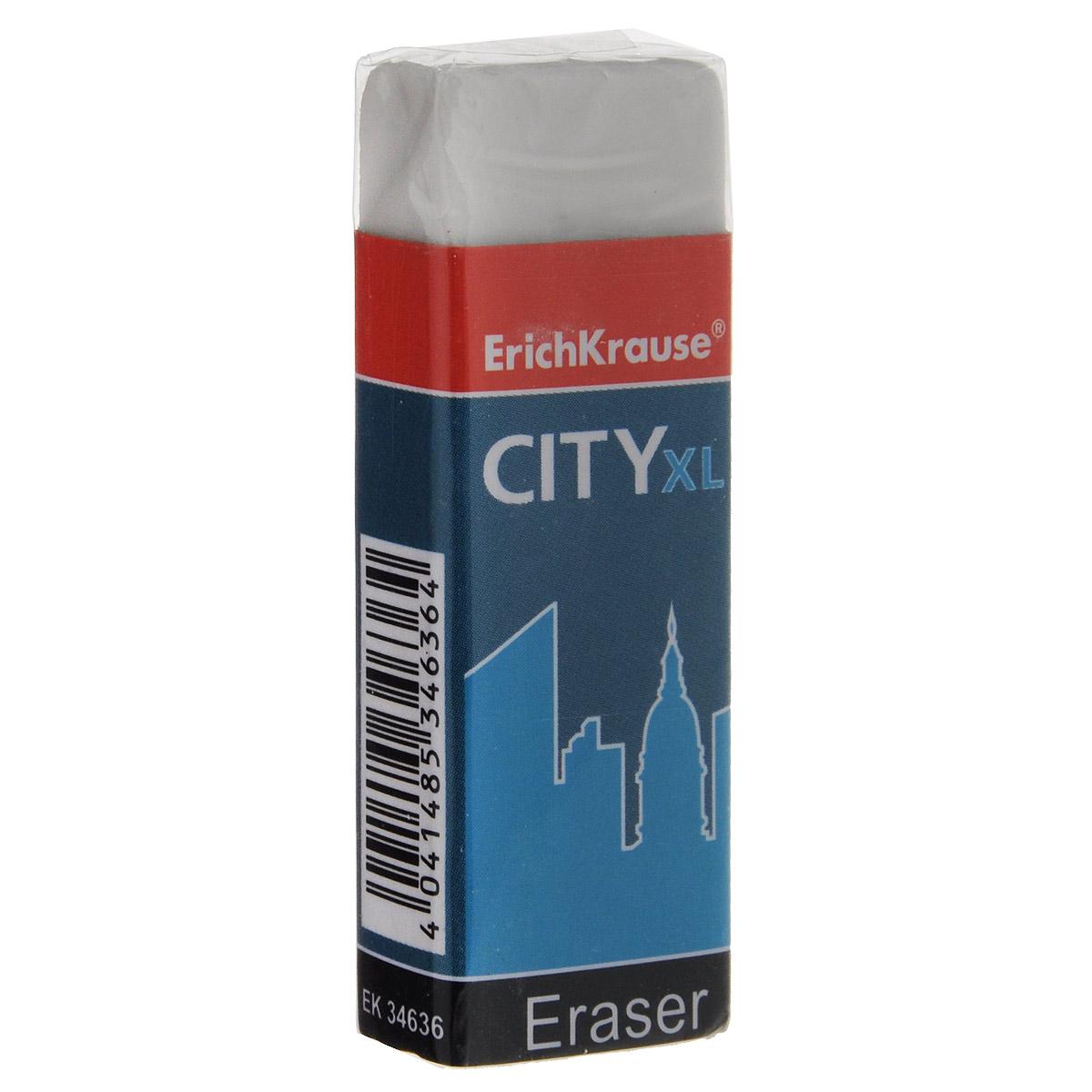 Ластик Erich Krause City XL, цвет: белыйFS-36054Ластик Erich Krause City XL станет незаменимым аксессуаром на рабочем столе не только школьника или студента, но и офисного работника.