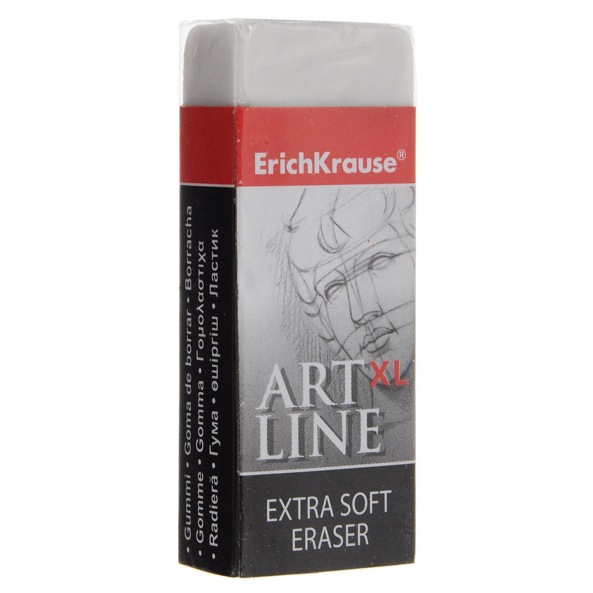 Ластик Erich KrauseArt Line XL, цвет: белыйFS-36052Ластик Erich Krause Art Line XL станет незаменимым аксессуаром на рабочем столе не только школьника или студента, но и офисного работника.