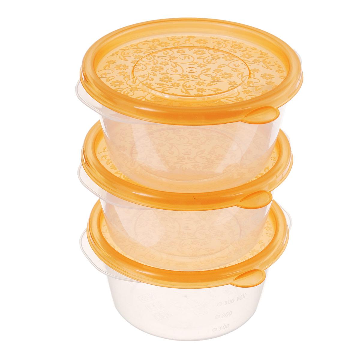 Набор контейнеров Phibo Арт-Декор, 0,44 л, 3 штFA-5125 WhiteКонтейнеры Phibo Арт-Декор изготовлены из высококачественного полипропилена и не содержат Бисфенол А. Крышка легко и плотно закрывается, украшена узором в виде цветков. Контейнер устойчив к воздействию масел и жиров, легко моется.Подходит для использования в микроволновых печах при температуре до +100°С, выдерживает хранение в морозильной камере при температуре -24°С, его можно мыть в посудомоечной машине при температуре до +95°С.Комплектация: 3 шт.Объем контейнера: 0,44 л.