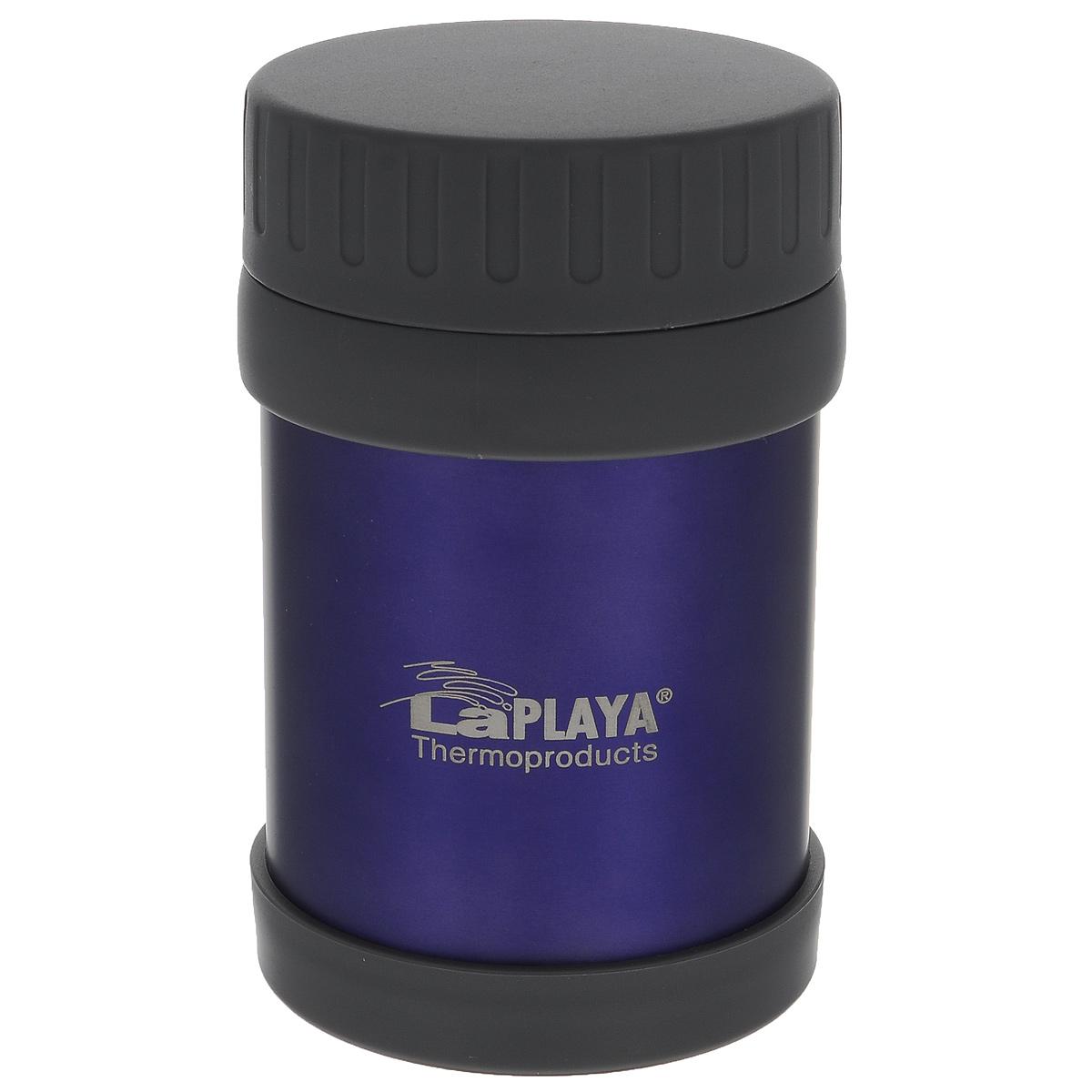 Термос LaPlaya JMG, цвет: фиолетовый, 350 млVT-1520(SR)Термос LaPlaya JMG изготовлен из высококачественной нержавеющей стали 18/8 и пластика. Термос с двухстеночной вакуумной изоляцией, предназначенный для хранения горячих и холодных продуктов, сохраняет их до 6 часов горячими и холодными в течении 8 часов. Термос очень легкий, имеет широкое горло и закрывается герметичной крышкой.Идеально подходит для напитков, а также первых и вторых блюд. Высота: 14 см.Диаметр горлышка: 6,8 см.