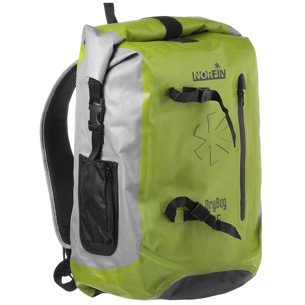 Рюкзак городской Norfin Dry Bag, цвет: серый, неоновый желтый, 35 лNF-40303Водонепроницаемый рюкзак Norfin Dry Bag со сворачивающимся верхом. Благодаря многофункциональности данный рюкзак позволяет удобно и легко укладывать свои вещи.Особенности рюкзака:Подвесная система c пятью рабочими зонами, обтянута сеткой Air MeshАнатомические лямки. Слой пены и сетки Air Mesh для мягкости и вентиляцииОдно внутреннее отделение, два внутренникх кармана на молнииФронтальный карман на молнииВодонепроницаемые молнииДва боковых кармана, меняющих объемГрудная стяжка Швы проклеены.