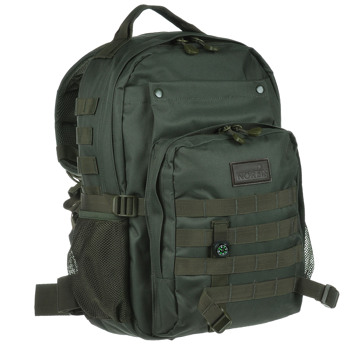 Рюкзак городской Norfin Tactic, цвет: зеленый, 30 л95940-905Городской тактический рюкзак Norfin Tactic выполнен из прочного полиэстера. Благодаря многофункциональности данный рюкзак позволяет удобно и легко укладывать свои вещи.Особенности рюкзака:Спинка имеет три рабочие зоны с сеткой Air Mesh, хорошо отводится избыточное тепло и влага при нагрузкахАнатомические лямки. Слой пены и сетки Air Mesh Поясной ременьБольшой фронтальный карманФронтальный карман на молнии с органайзером Два боковых карманаВнутренний карман для ноутбукаВнутренний сетчатый карман.